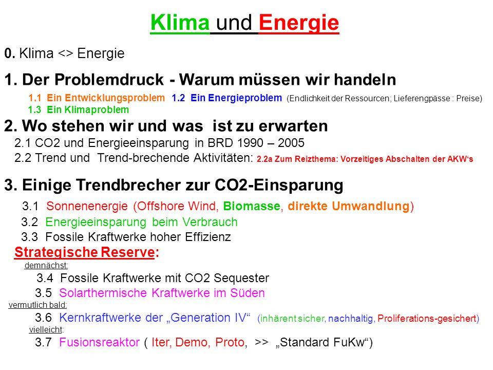 Klima und Energie 1. Der Problemdruck - Warum müssen wir handeln