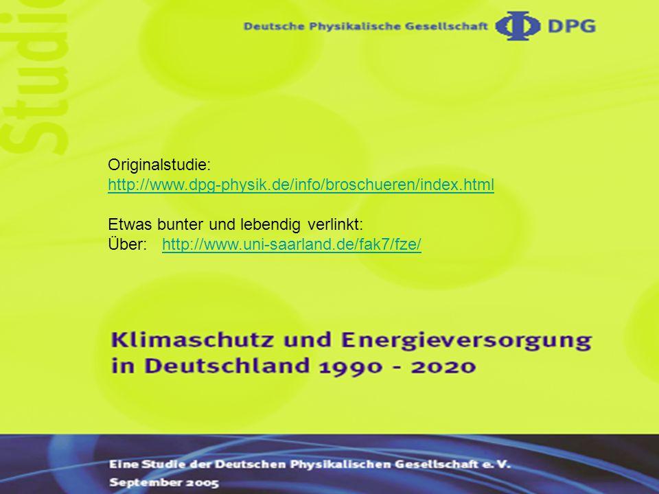 Originalstudie: http://www.dpg-physik.de/info/broschueren/index.html. Etwas bunter und lebendig verlinkt: