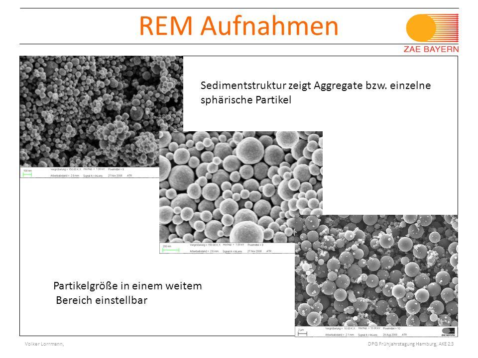27.02.09 REM Aufnahmen. Sedimentstruktur zeigt Aggregate bzw. einzelne sphärische Partikel. Partikelgröße in einem weitem.