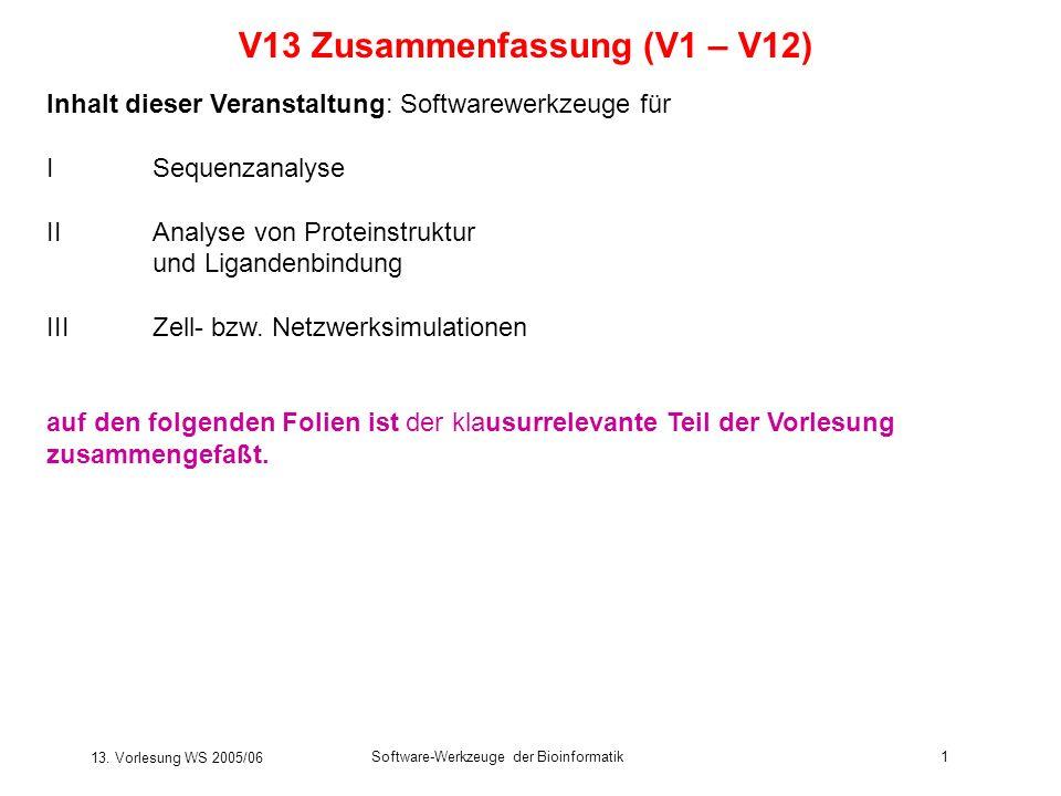 V13 Zusammenfassung (V1 – V12)