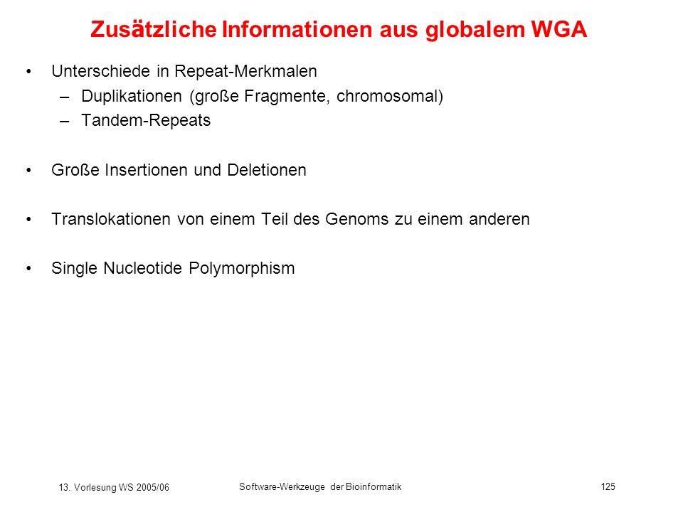 Zusätzliche Informationen aus globalem WGA