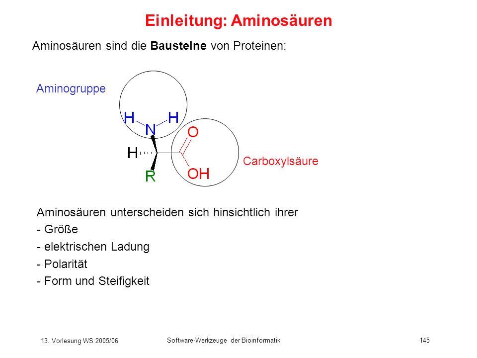 Einleitung: Aminosäuren