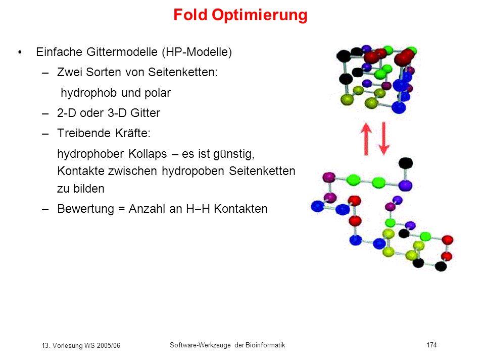 Fold Optimierung Einfache Gittermodelle (HP-Modelle)