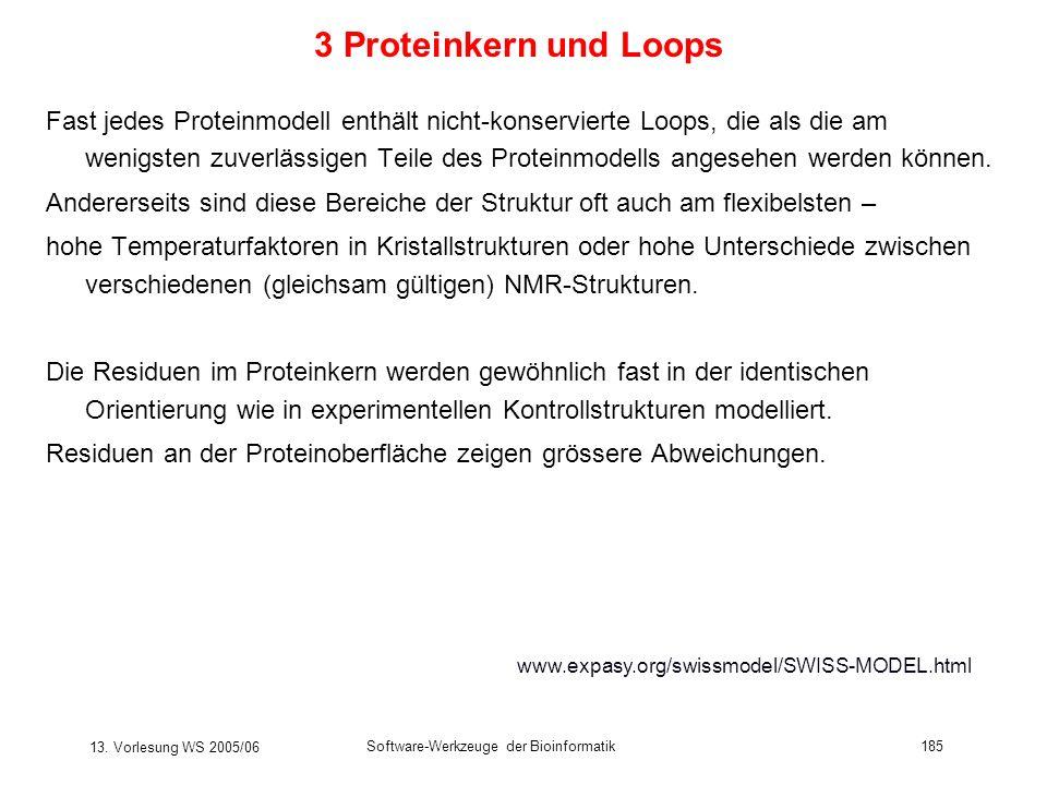 3 Proteinkern und Loops