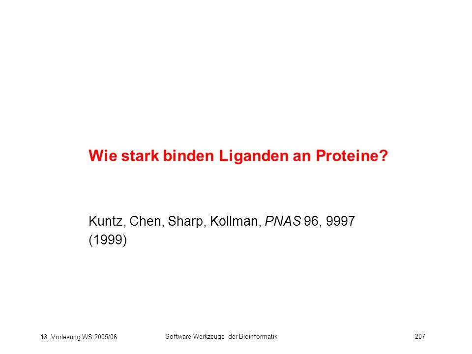 Wie stark binden Liganden an Proteine