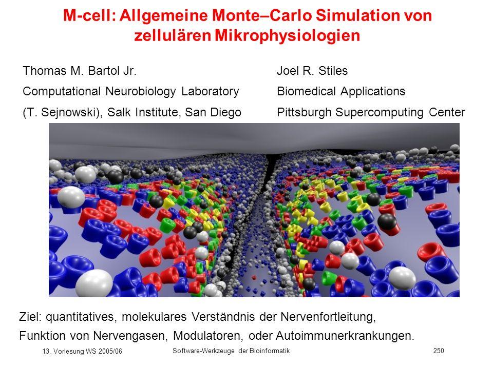 M-cell: Allgemeine Monte–Carlo Simulation von zellulären Mikrophysiologien