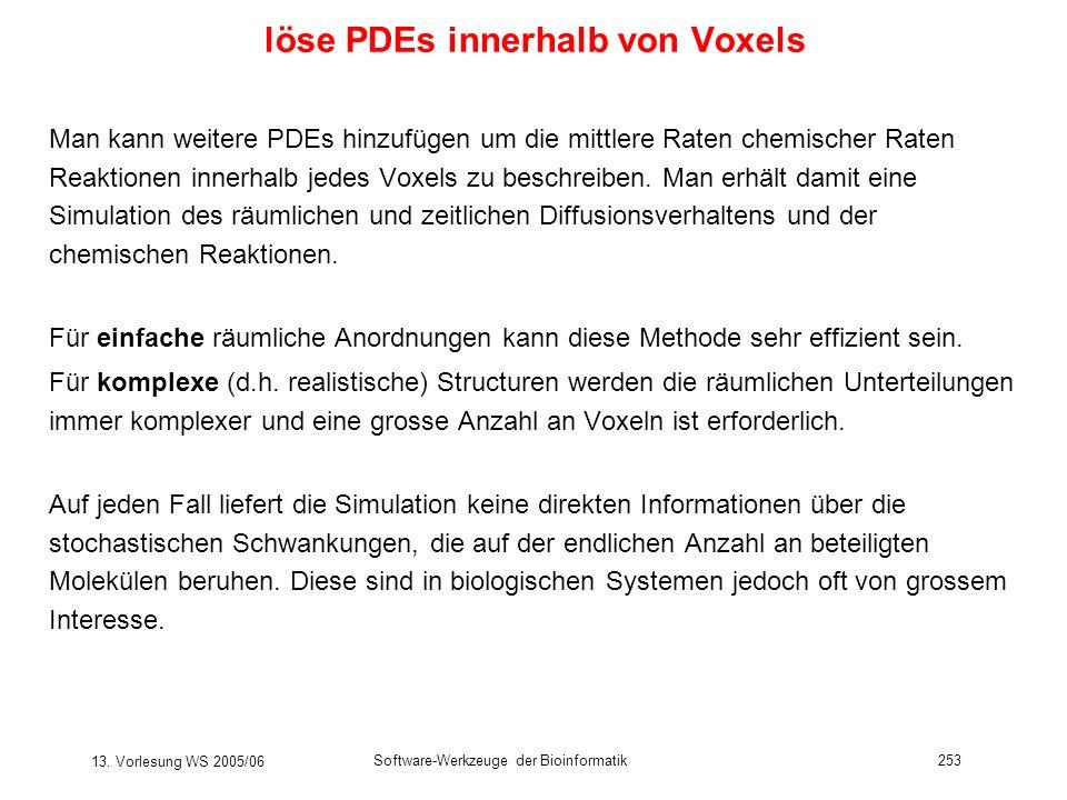 löse PDEs innerhalb von Voxels