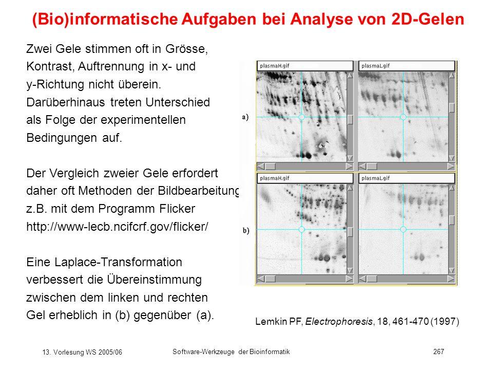 (Bio)informatische Aufgaben bei Analyse von 2D-Gelen