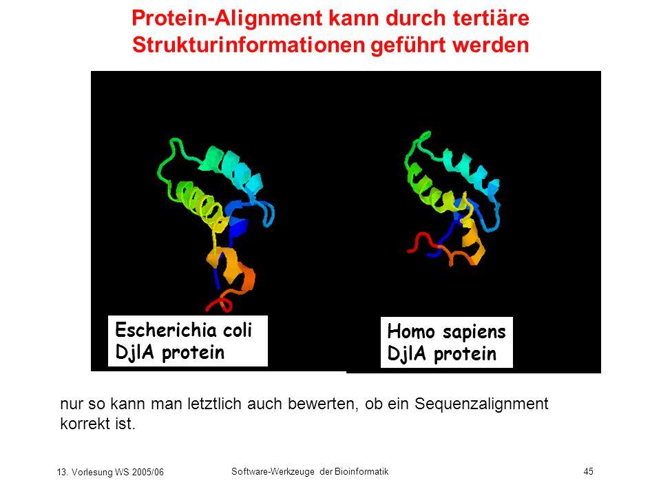 Protein-Alignment kann durch tertiäre Strukturinformationen geführt werden
