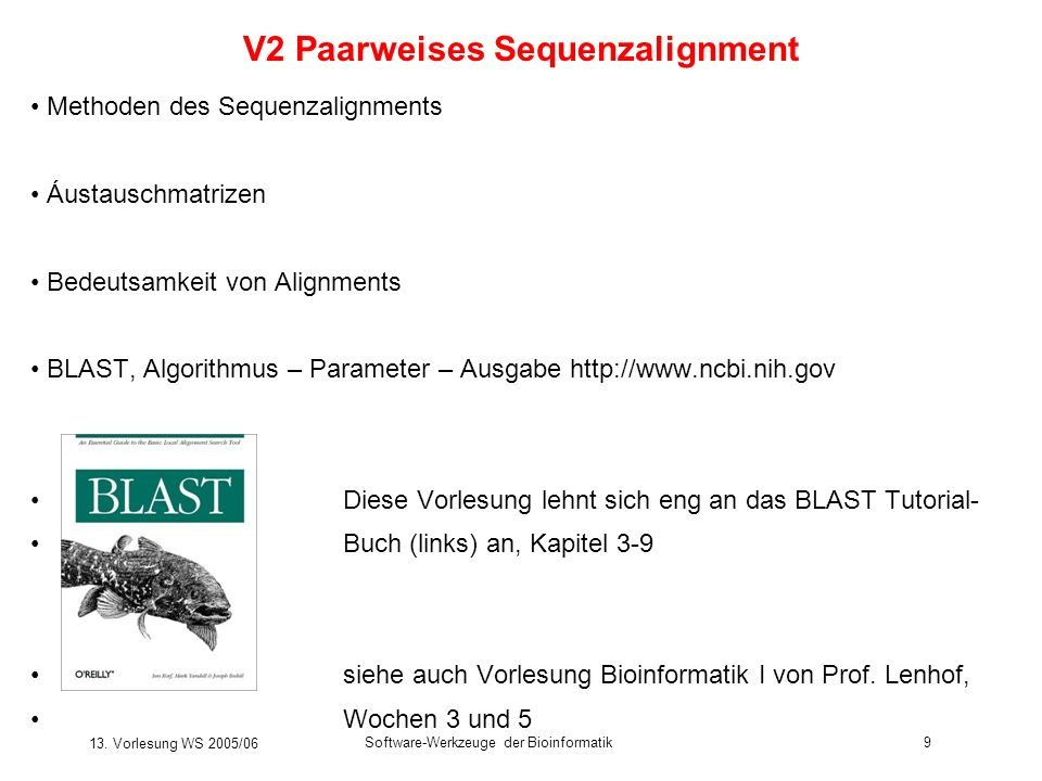 V2 Paarweises Sequenzalignment
