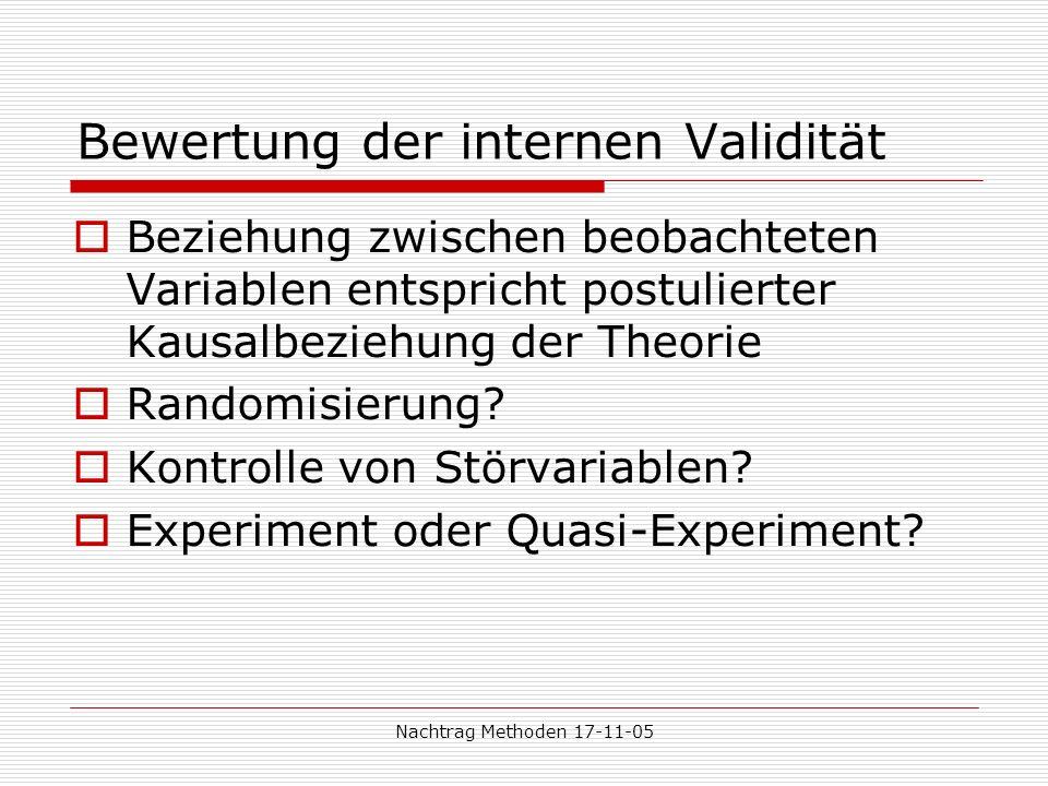 Bewertung der internen Validität
