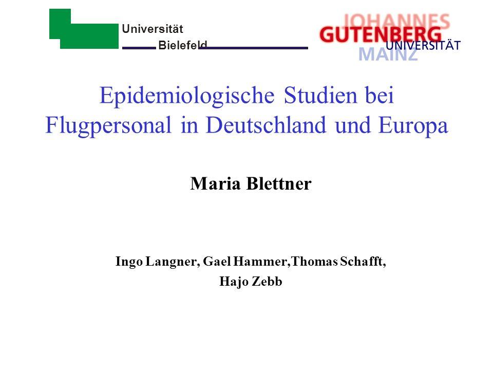 Epidemiologische Studien bei Flugpersonal in Deutschland und Europa