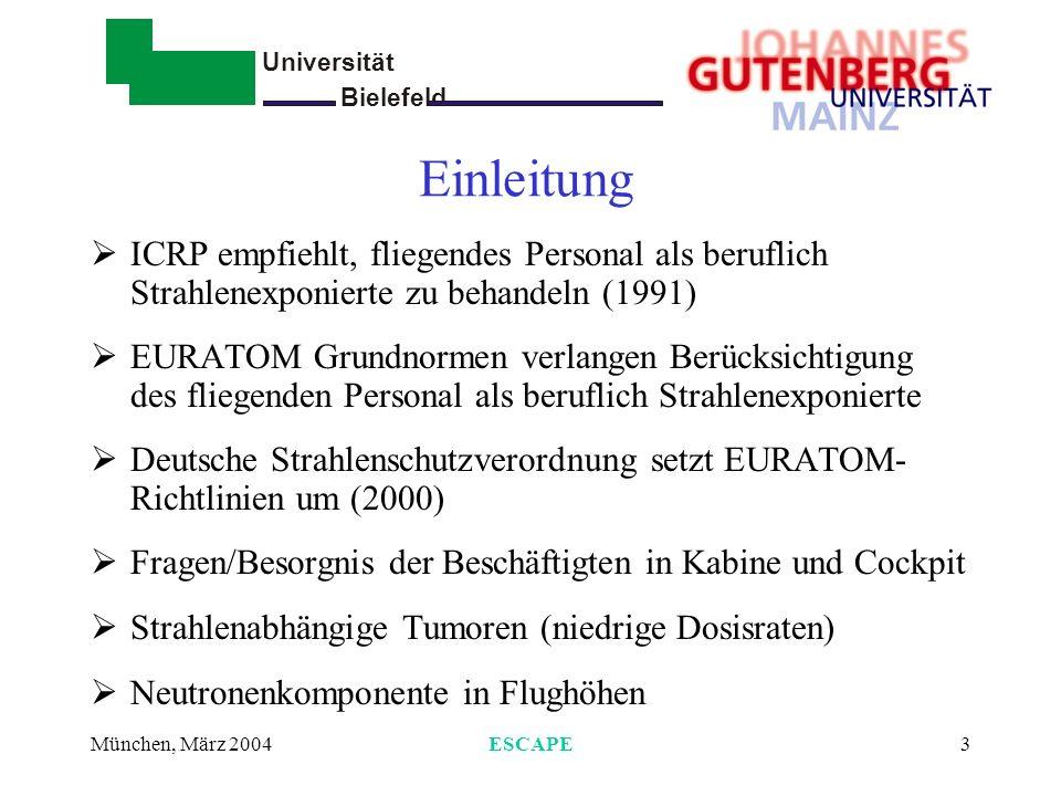 EinleitungICRP empfiehlt, fliegendes Personal als beruflich Strahlenexponierte zu behandeln (1991)