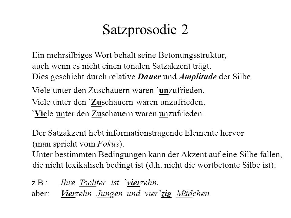 Satzprosodie 2