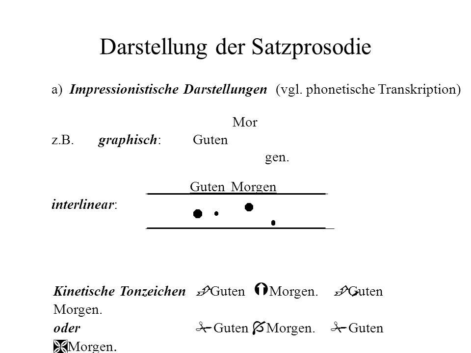Darstellung der Satzprosodie
