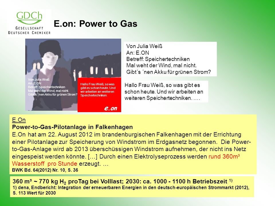 E.on: Power to Gas e.on E.On Power-to-Gas-Pilotanlage in Falkenhagen
