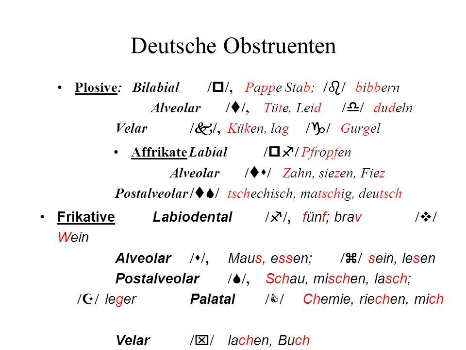 Deutsche Obstruenten