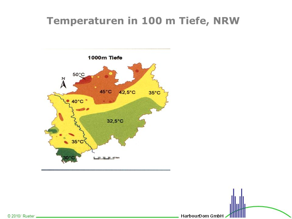 Temperaturen in 100 m Tiefe, NRW