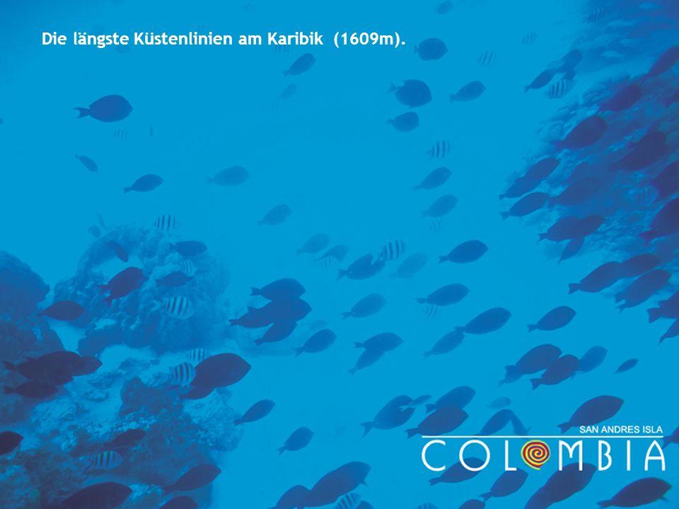 Die längste Küstenlinien am Karibik (1609m).