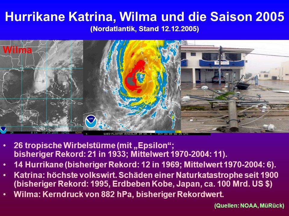 Hurrikane Katrina, Wilma und die Saison 2005 (Nordatlantik, Stand 12