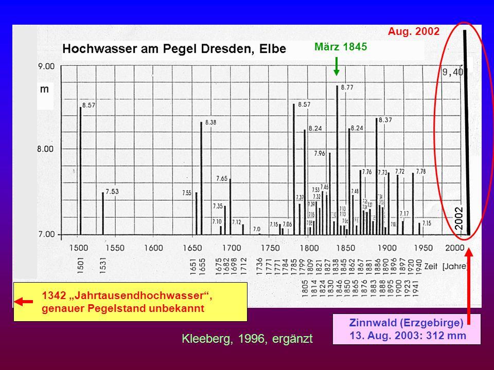 Kleeberg, 1996, ergänzt Aug. 2002 März 1845