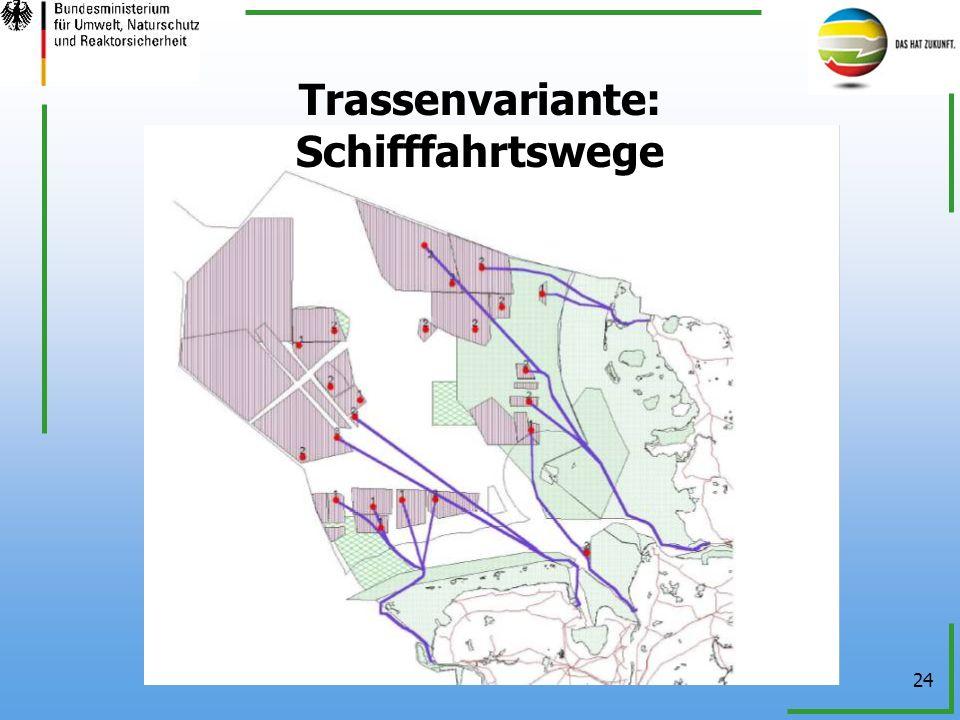 Trassenvariante: Schifffahrtswege