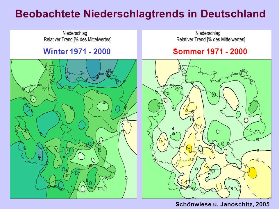Beobachtete Niederschlagtrends in Deutschland