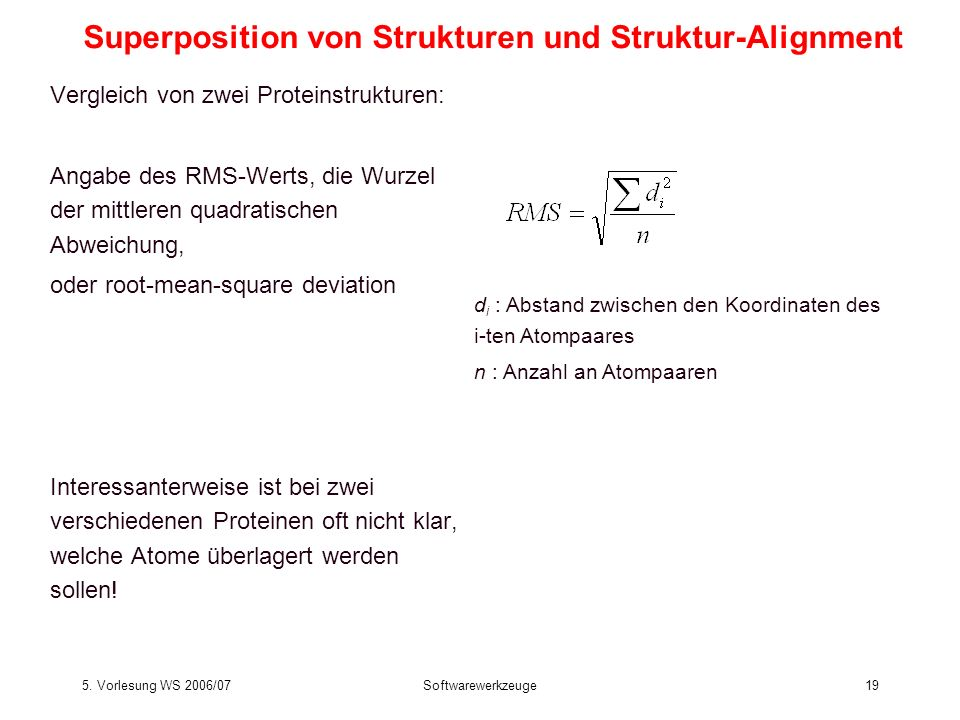 Superposition von Strukturen und Struktur-Alignment