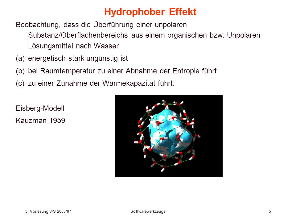 Hydrophober Effekt