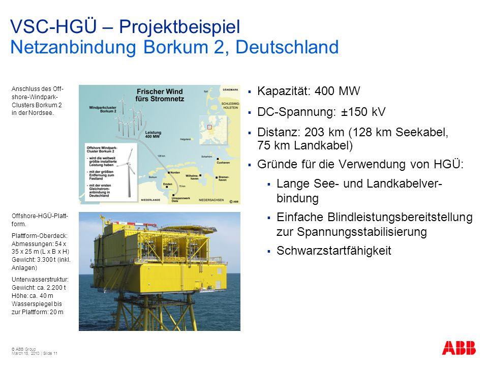 VSC-HGÜ – Projektbeispiel Netzanbindung Borkum 2, Deutschland
