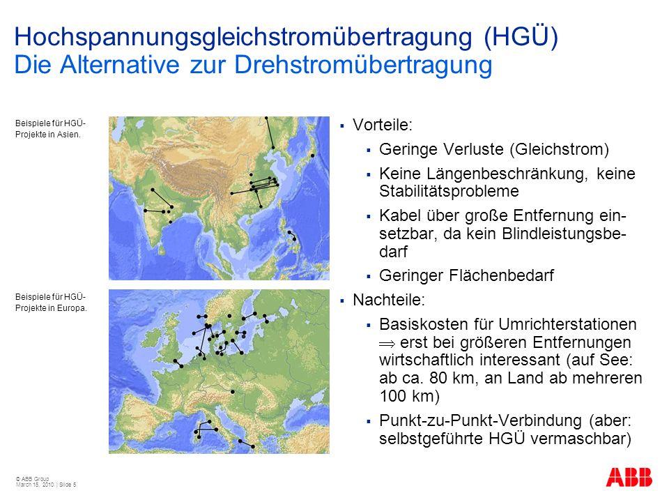 Hochspannungsgleichstromübertragung (HGÜ) Die Alternative zur Drehstromübertragung