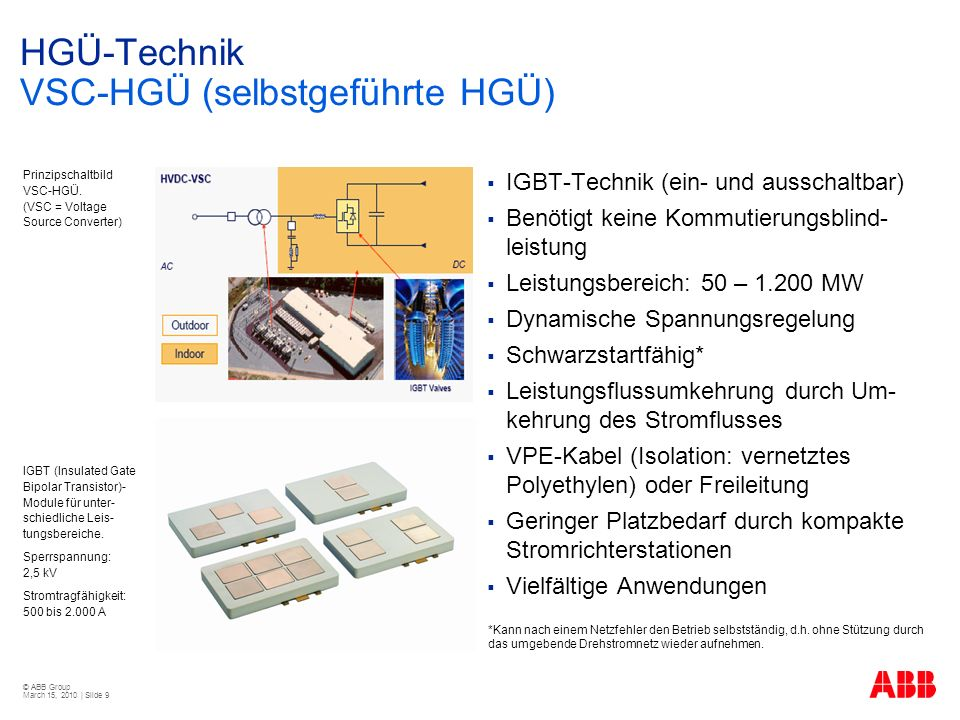 HGÜ-Technik VSC-HGÜ (selbstgeführte HGÜ)