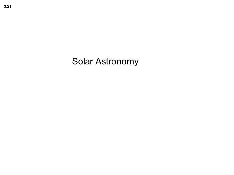 3.21 Solar Astronomy
