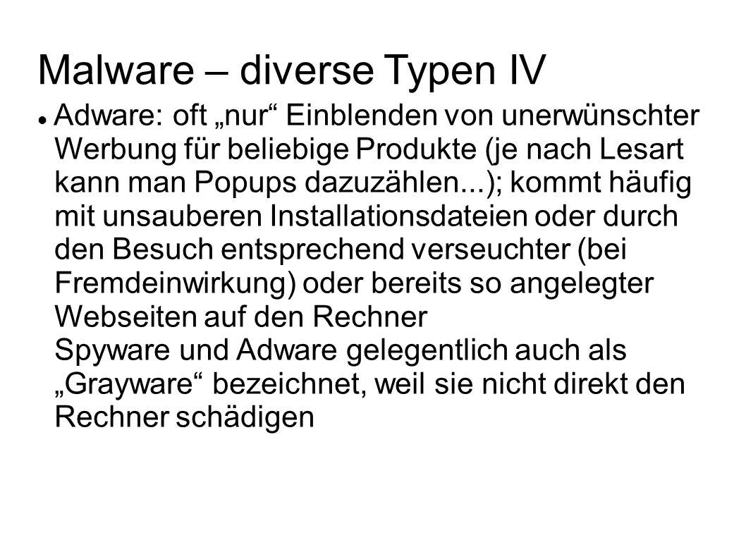 Malware – diverse Typen IV