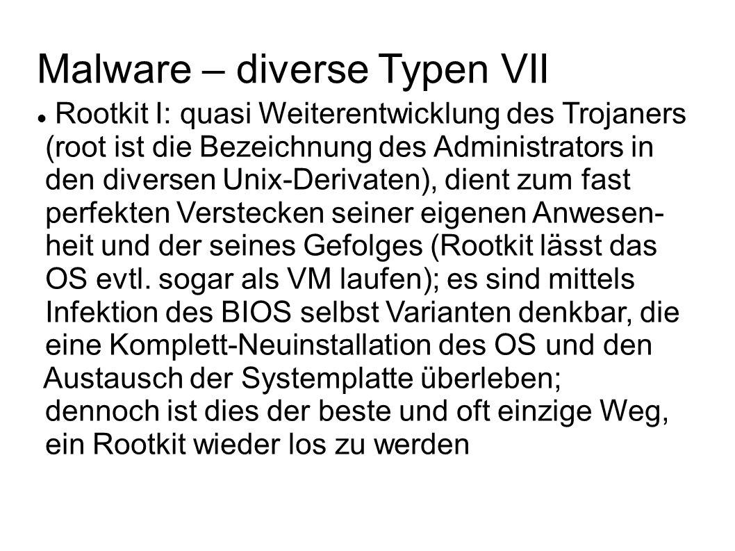 Malware – diverse Typen VII