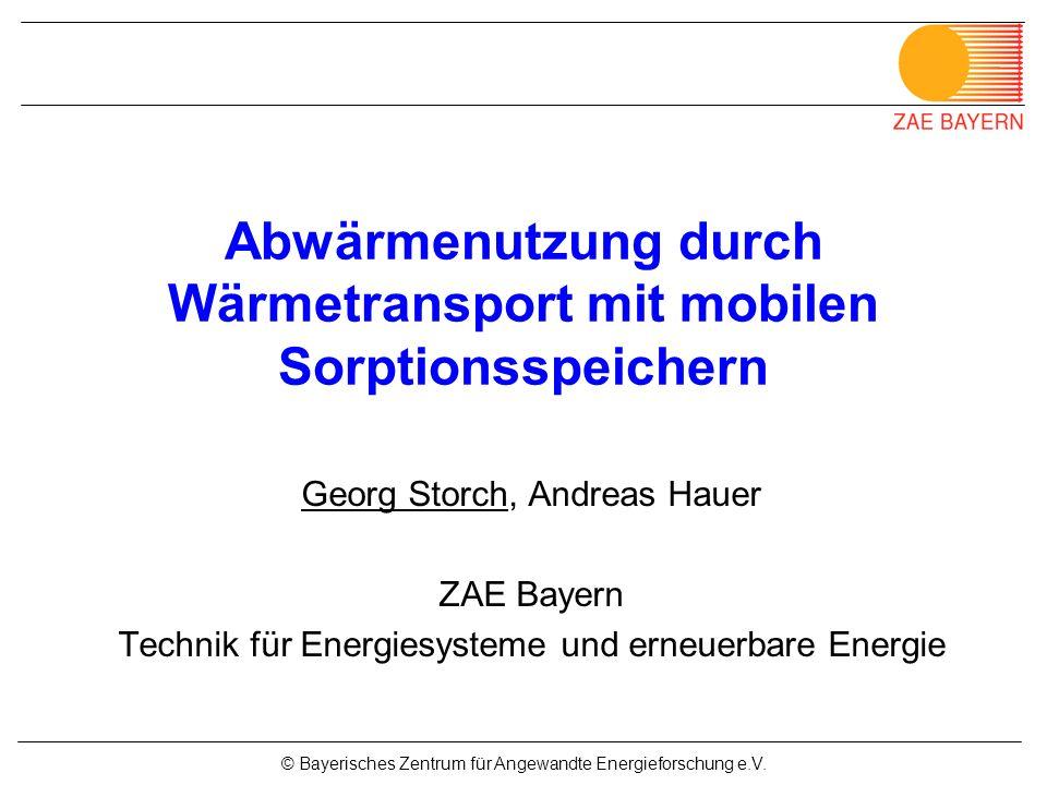 Abwärmenutzung durch Wärmetransport mit mobilen Sorptionsspeichern