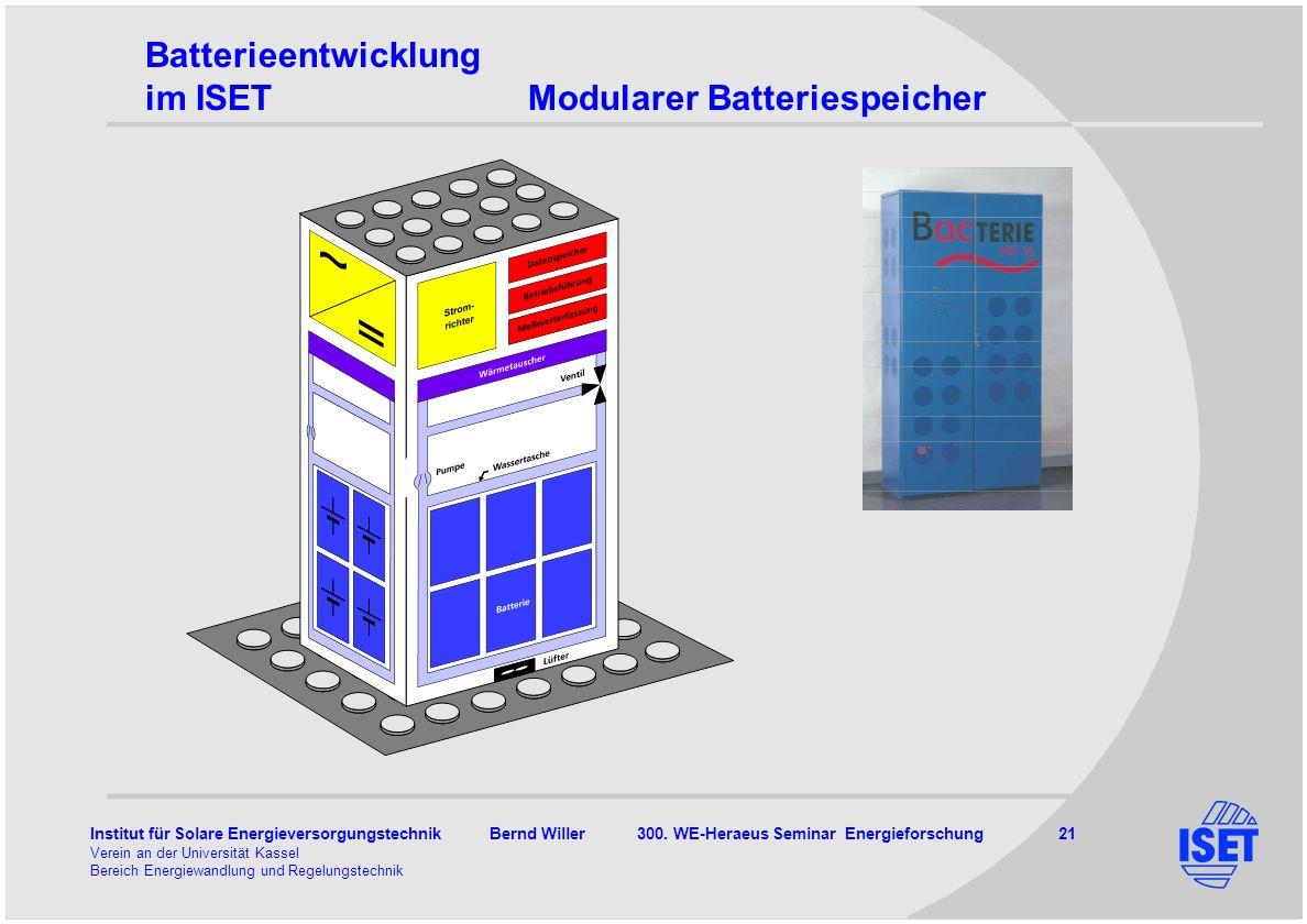 Batterieentwicklung im ISET Modularer Batteriespeicher