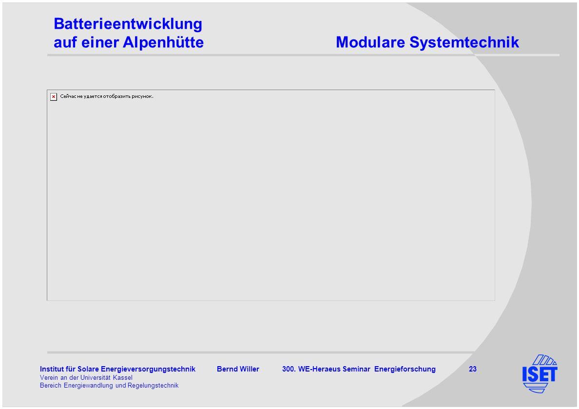 Batterieentwicklung auf einer Alpenhütte Modulare Systemtechnik