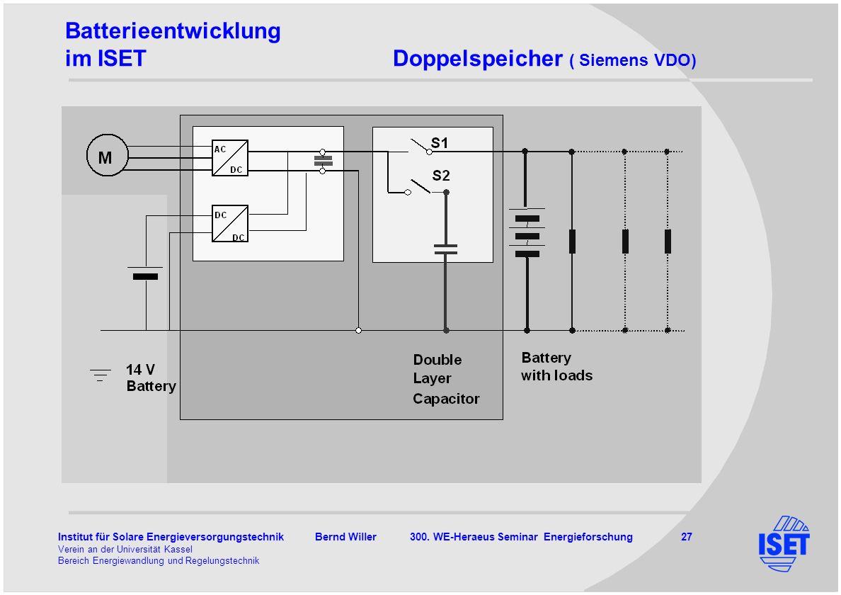 Batterieentwicklung im ISET Doppelspeicher ( Siemens VDO)