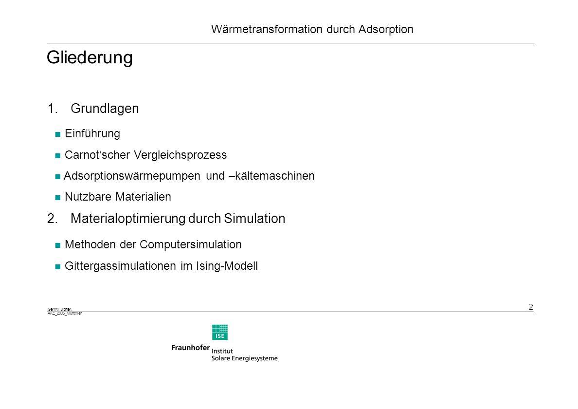 Gliederung Grundlagen 2. Materialoptimierung durch Simulation