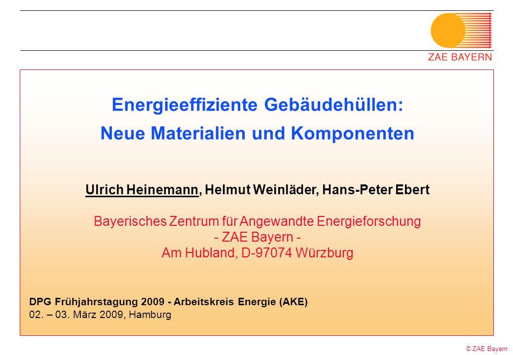 Energieeffiziente Gebäudehüllen: Neue Materialien und Komponenten