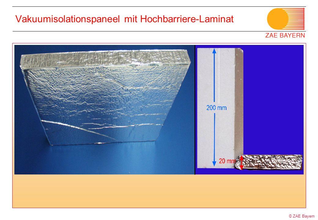 Vakuumisolationspaneel mit Hochbarriere-Laminat
