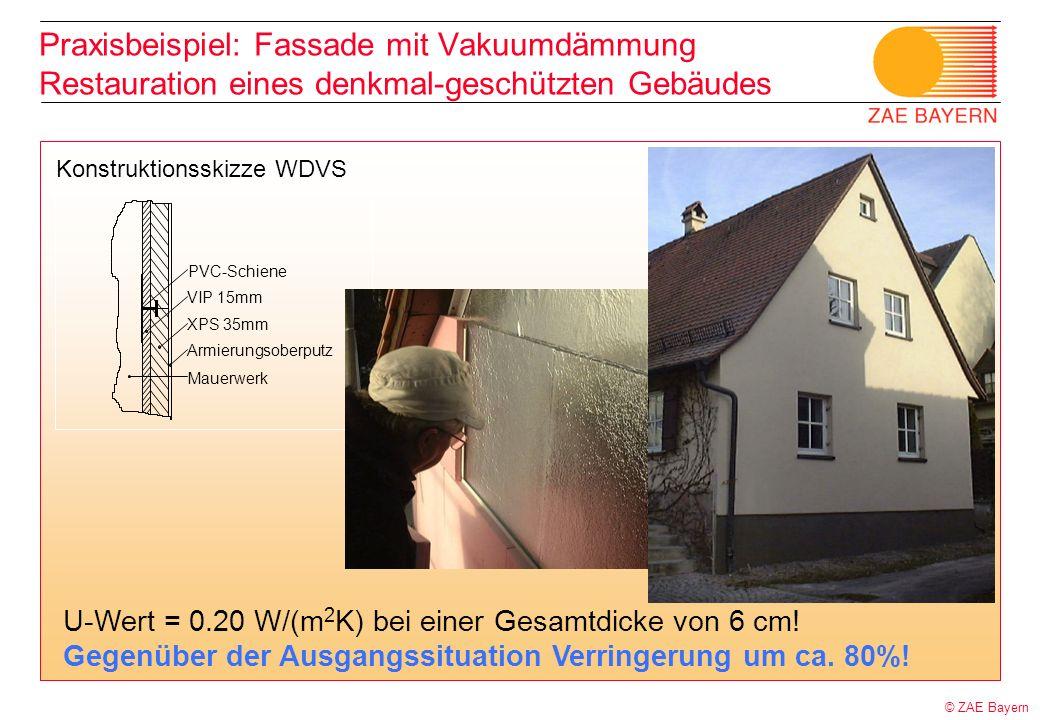 Praxisbeispiel: Fassade mit Vakuumdämmung Restauration eines denkmal-geschützten Gebäudes