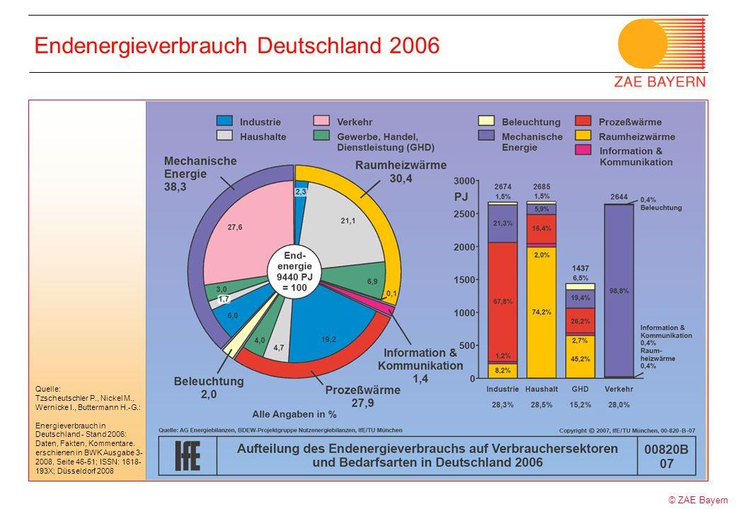 Endenergieverbrauch Deutschland 2006