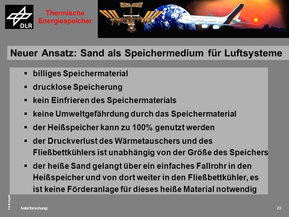 Neuer Ansatz: Sand als Speichermedium für Luftsysteme