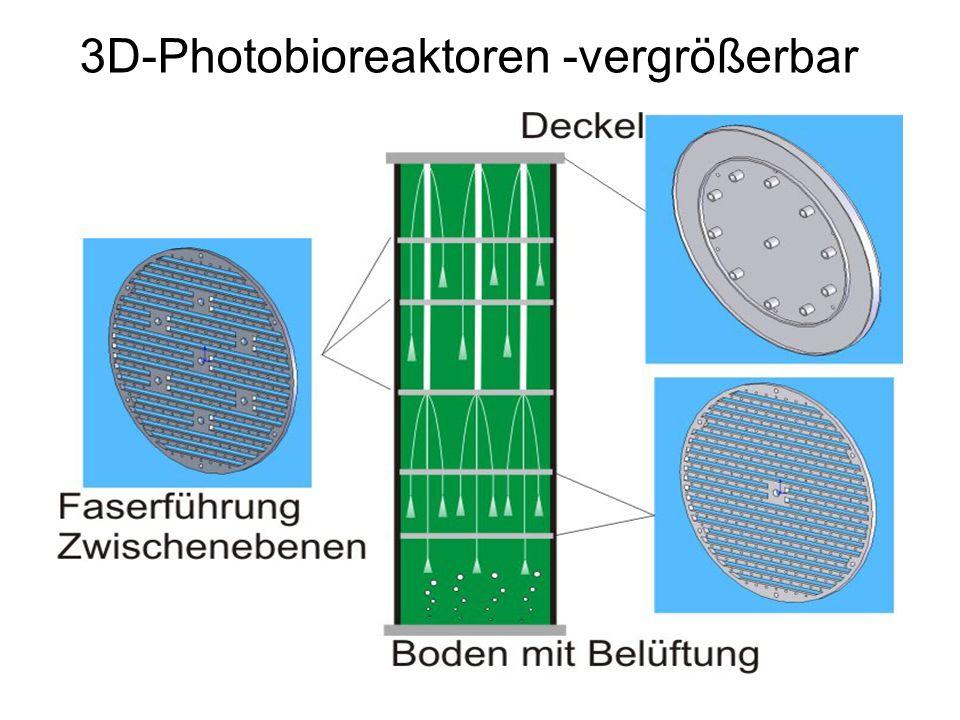 3D-Photobioreaktoren -vergrößerbar