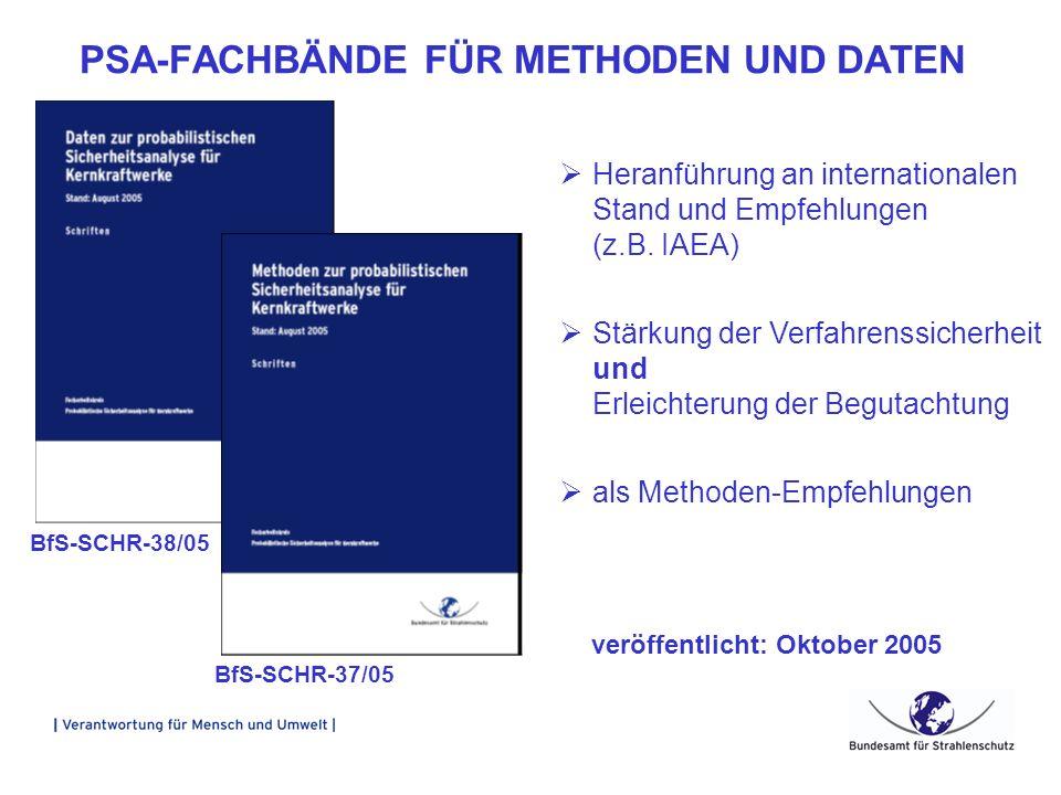 PSA-FACHBÄNDE FÜR METHODEN UND DATEN