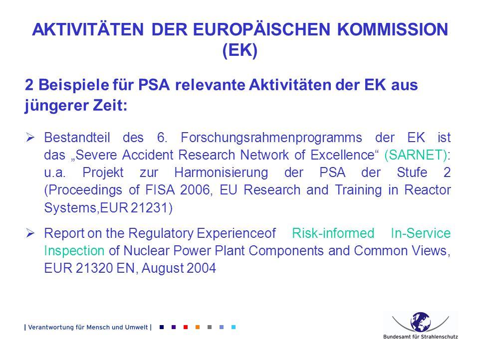AKTIVITÄTEN DER EUROPÄISCHEN KOMMISSION (EK)