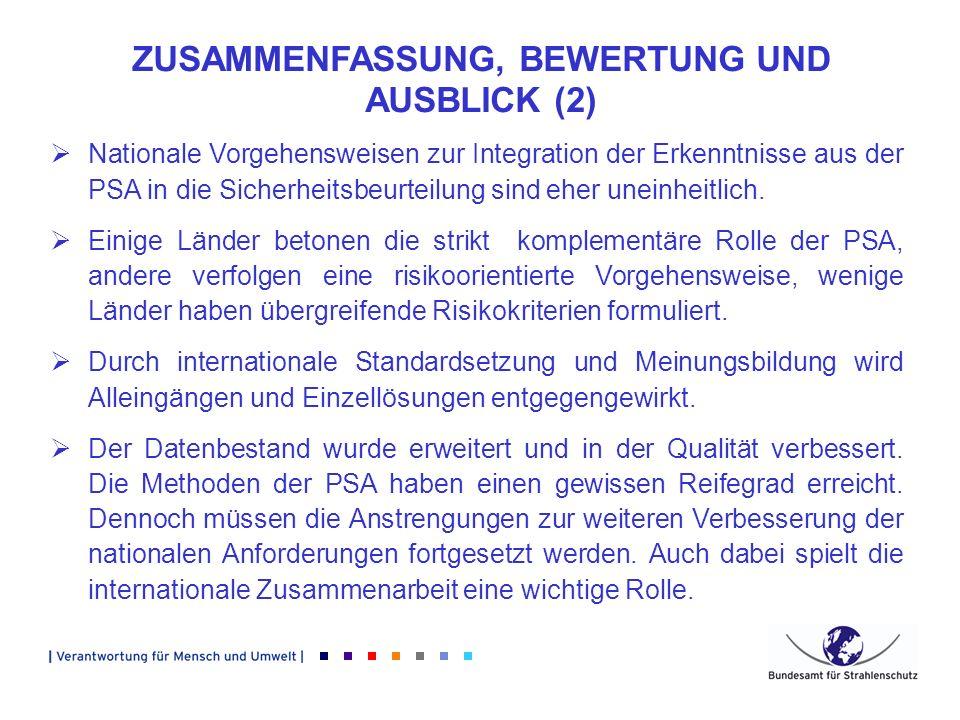 ZUSAMMENFASSUNG, BEWERTUNG UND AUSBLICK (2)