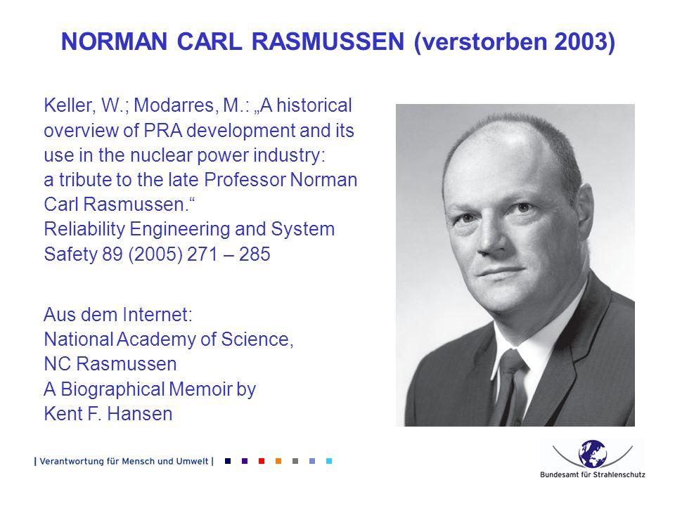 NORMAN CARL RASMUSSEN (verstorben 2003)